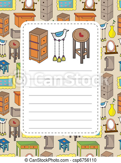 cartoon furniture card - csp6756110