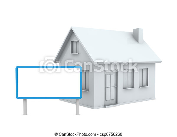 house with a signboard - csp6756260