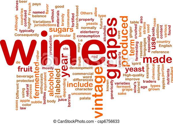 Wine vintage background concept - csp6756633