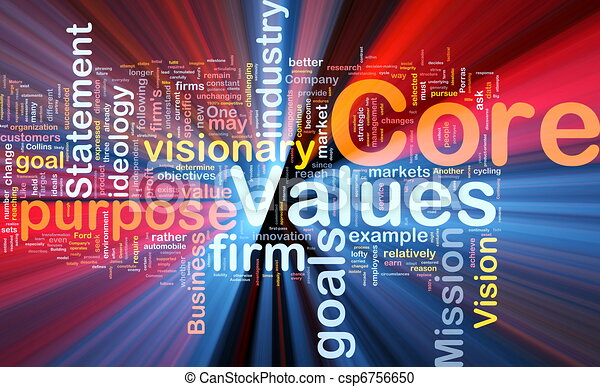 Core values background concept glowing - csp6756650