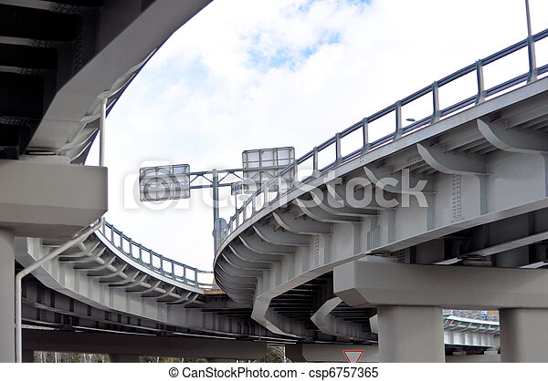 automobile overpass. bottom view - csp6757365
