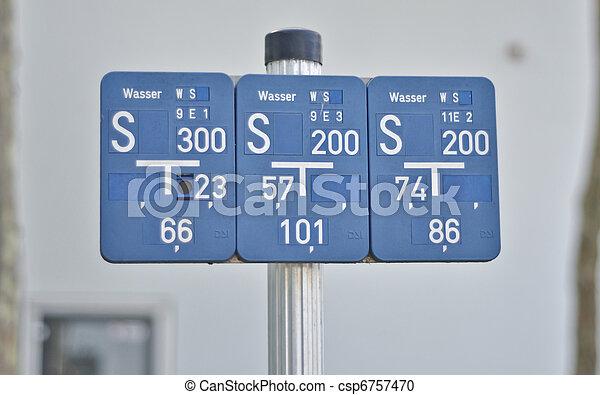 plate-pointers of distances to underground utilities - csp6757470