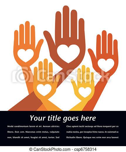 Helpful hands design. - csp6758314