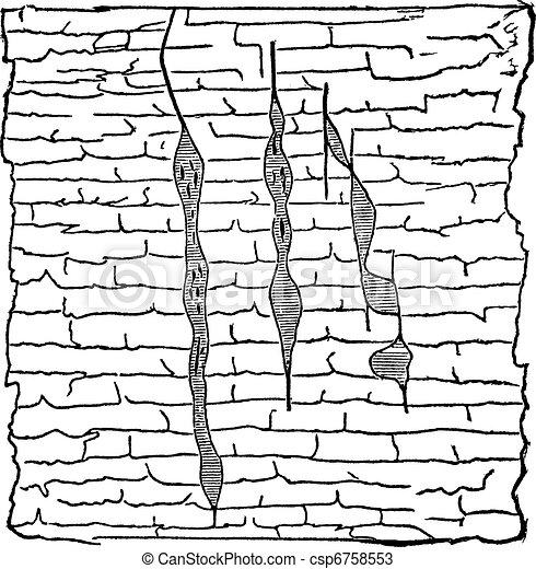 地質, 静脈, 型, 刻まれる, イラスト - csp6758553 地質, 静脈, イラスト,