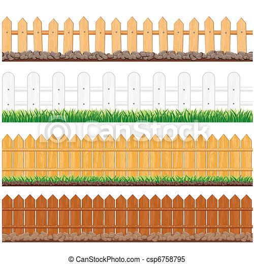 Isolated Fences - csp6758795