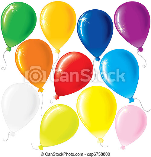 Party Balloons - csp6758800