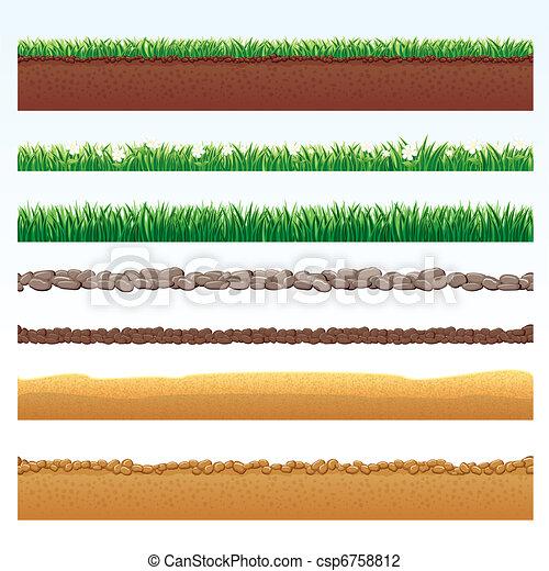 Vektor illustration von details natur boden schnitt for Boden clipart