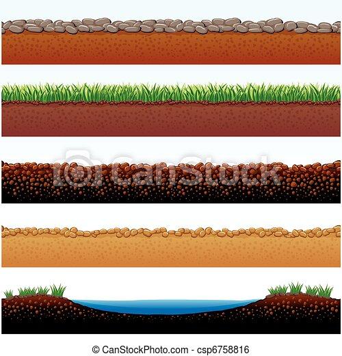 Clip art vektor von boden oberfl chen vektor abbildung for Boden cartoon