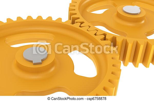 Gears Orange, sparse. - csp6758878