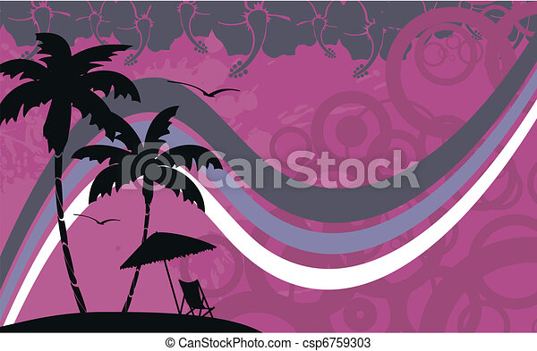 hawaiian tropical beach wallpaper1 - csp6759303