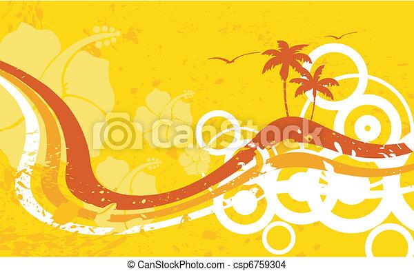 hawaiian tropical beach wallpaper2 - csp6759304
