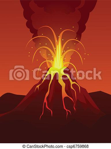 Volcano eruption - csp6759868