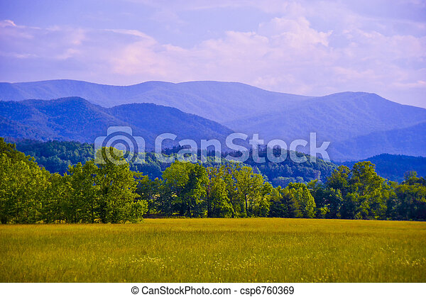 blå,  Mountains, Ås - csp6760369