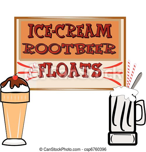 rootbeer floats and ice cream - csp6760396
