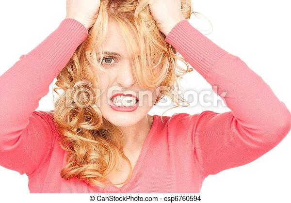 unhappy woman - csp6760594