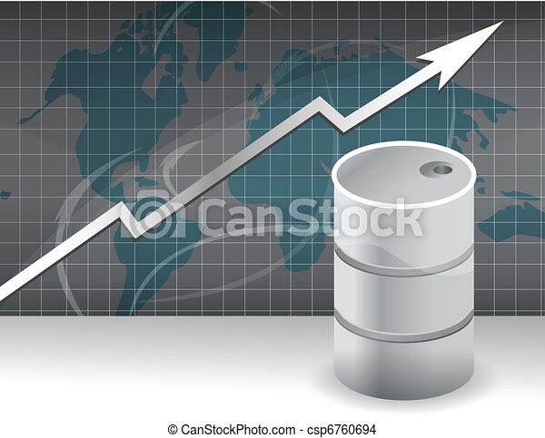 rise in prices for oil - csp6760694