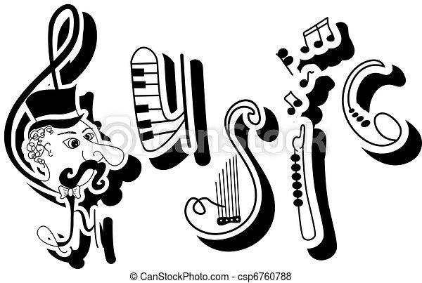 Music - csp6760788