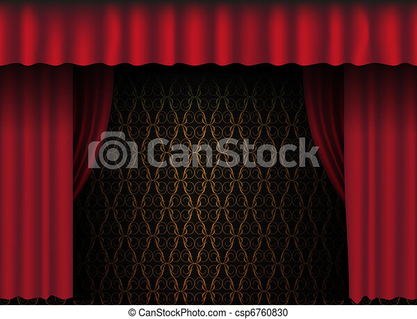 Red Curtain - csp6760830
