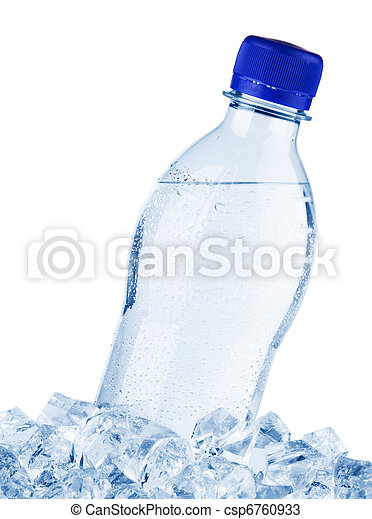 Water bottle in ice - csp6760933