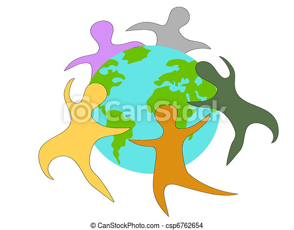 people around the world - csp6762654