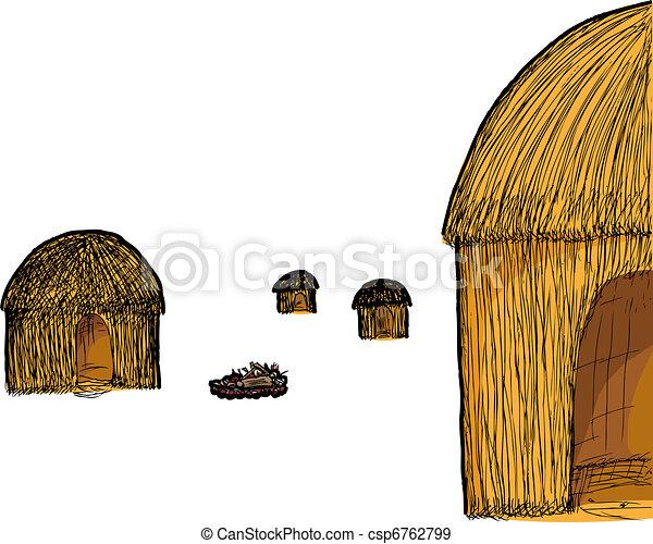 Straw Hut - csp6762799