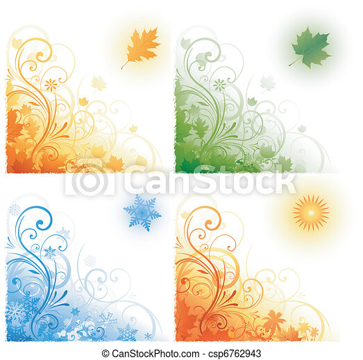 four seasons background - csp6762943