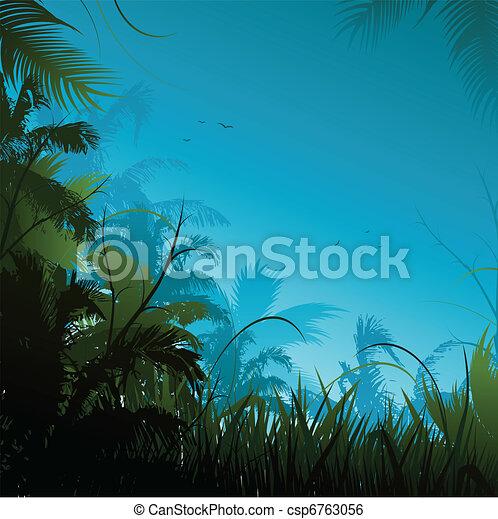 Jungle background - csp6763056
