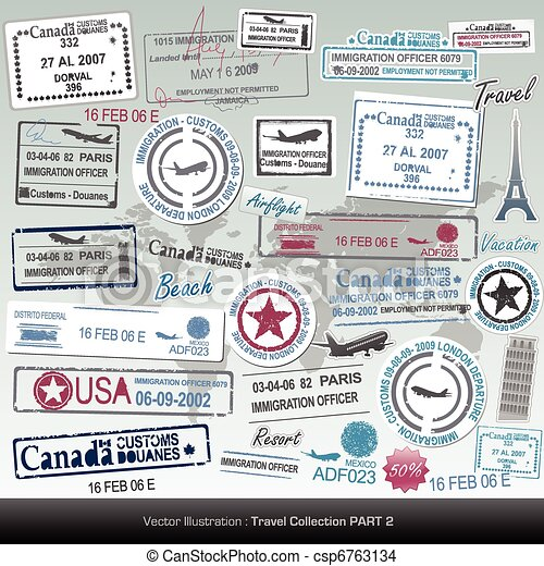 passport stamps - csp6763134