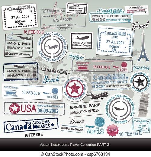 passport stamps - csp6763134