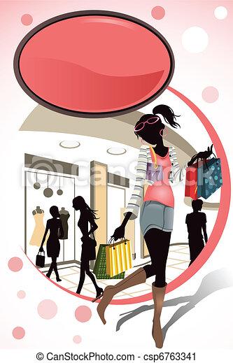 Shopping - csp6763341