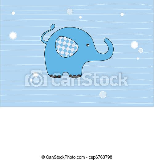 Elephant blue  - csp6763798