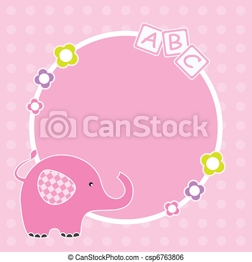 Pink elephant framework - csp6763806