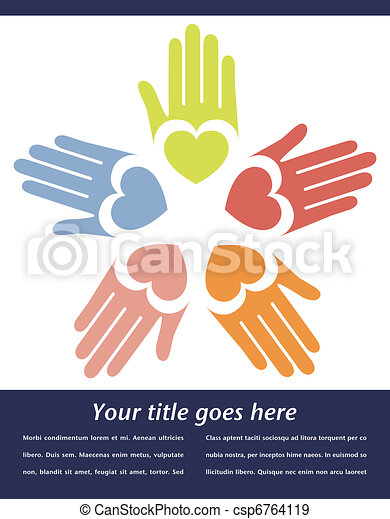United hands vector. - csp6764119