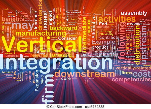 Vertical integration background concept glowing - csp6764338