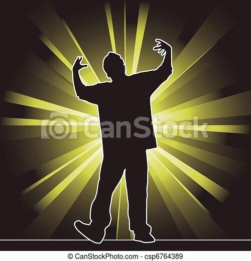 dancing silhouette, hip-hop - csp6764389