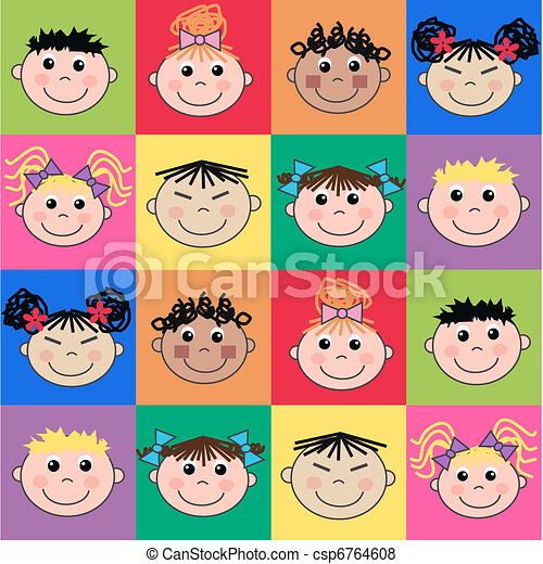 ethnic mixed children - csp6764608