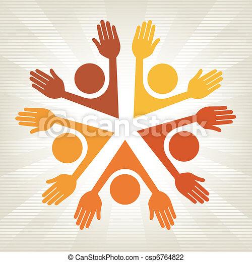 Colorful people design. - csp6764822