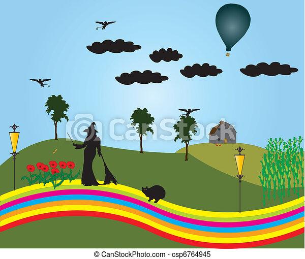 The land Oz - csp6764945