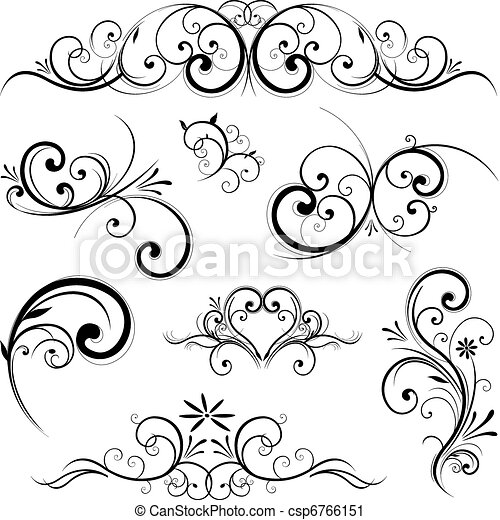Vector scroll ornament - csp6766151