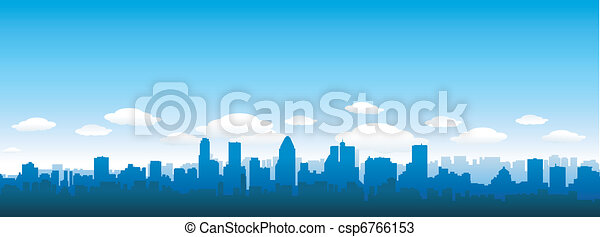 City skyline - csp6766153