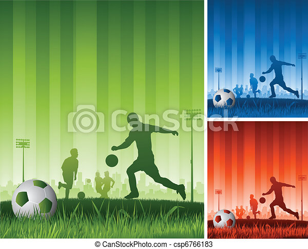 soccer game background - csp6766183