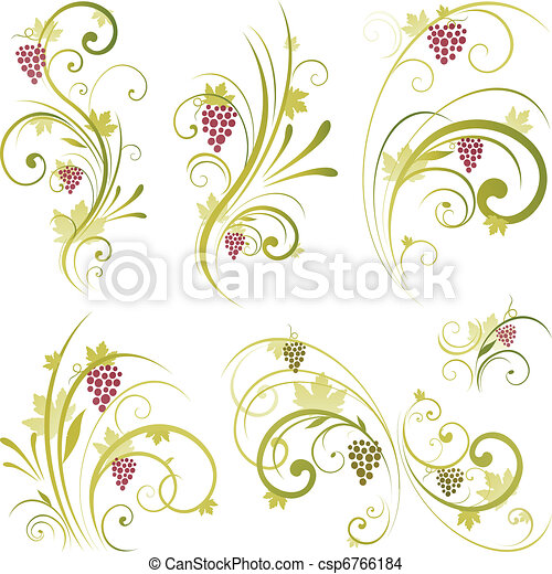 wine scroll shape - csp6766184