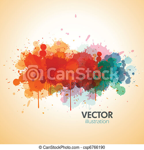paint splat background - csp6766190