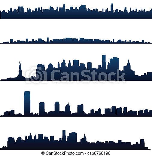 New york city silhouettes - csp6766196