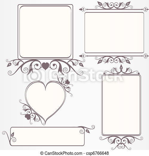 Ornate vintage frame set - csp6766648