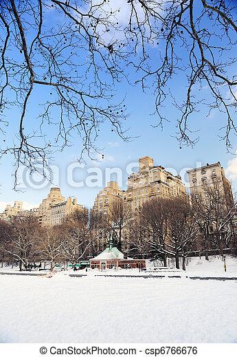 New York City Manhattan Central Park in winter - csp6766676