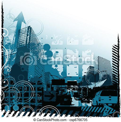 Grunge urban design - csp6766705