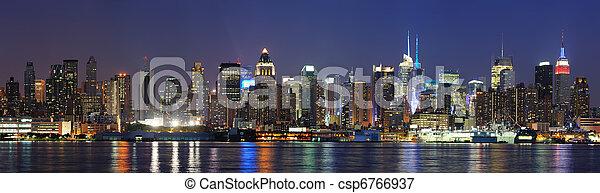 New York City Manhattan at dusk - csp6766937