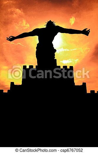 Sihouette of Jesus Christ Statue - csp6767052
