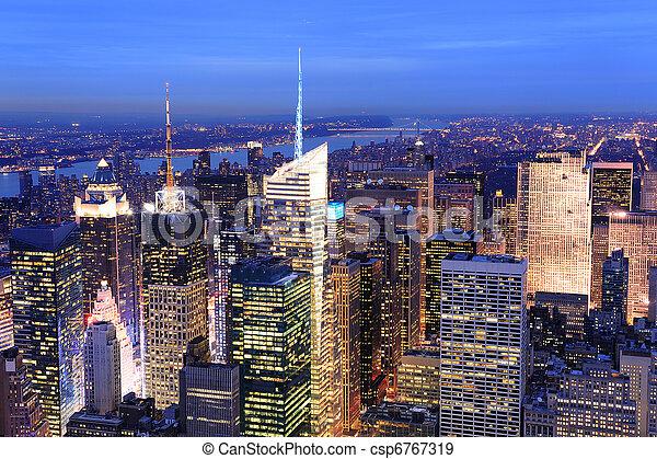 New York City Manhattan Times Square night - csp6767319